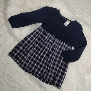 {Baby B'gosh} Sweater and Plaid Dress